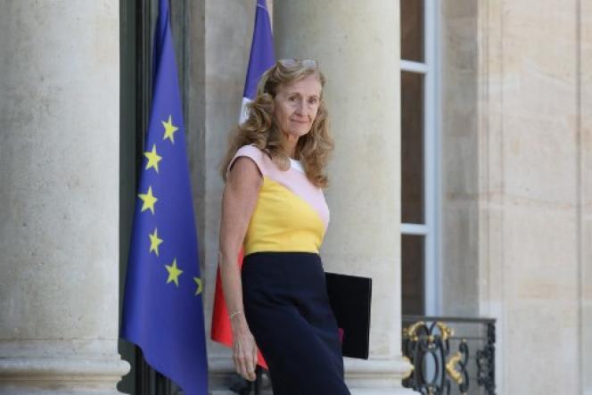 La ministre de la justice, Nicole Belloubet, sur le perron de l'Elysée,le 6 juillet.
