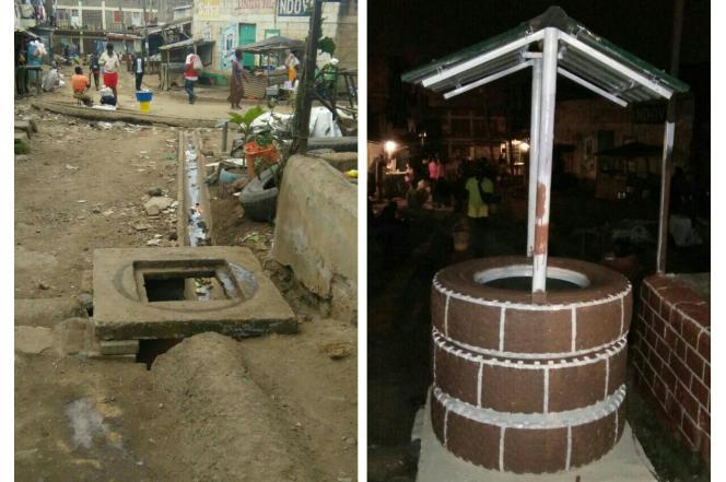 Un puits réalisé dans le cadre de The Changing Faces Competition à Dandora, au Kenya.