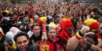 Des supporteurs belges à Bruxelles.