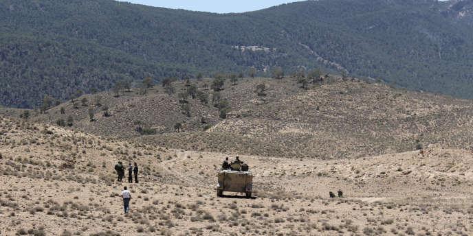 Patrouille de l'armée tunisienne près de la frontière avec l'Algérie, dans la zone du djebel Chaambi, le 11 juin 2013.