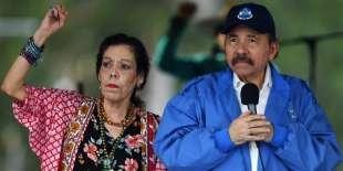 Daniel Ortega et son épouse Rosario Murillo à Managua, le 7 juillet.