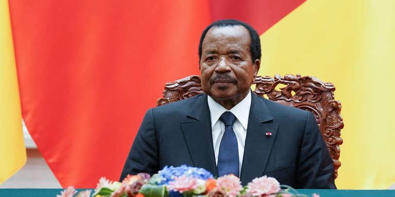 Le président camerounais Paul Biya lors d'une visite en Chine, en mars 2018.