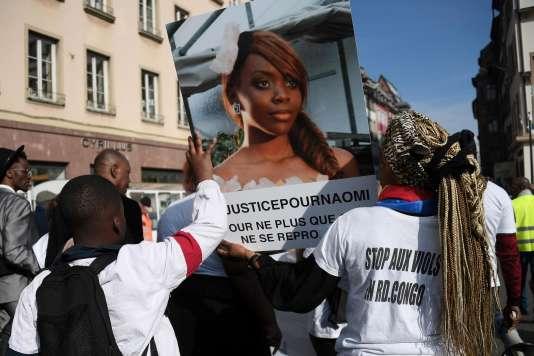 Une marche du silence pour Naomi Musenga, le 16 mars 2018.