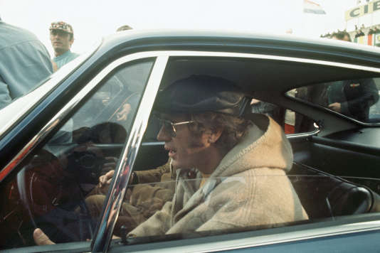 Steve McQueen, en avril 1970, sur le tournage du film« Le Mans».