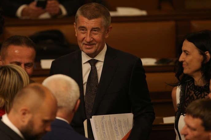 Le premier ministre tchèque Andrej Babis au Parlement, le 11 juillet.