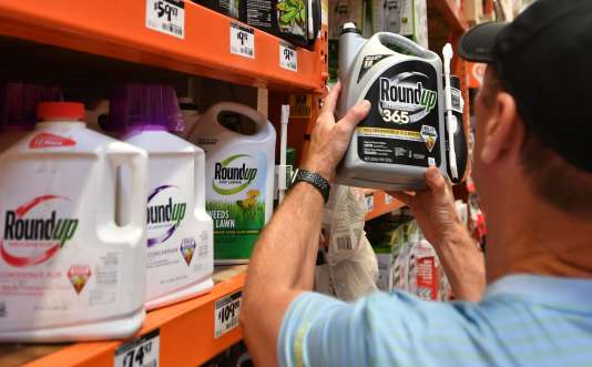 Des produits Roundup en vente à San Rafael (Californie), le 9 juillet.
