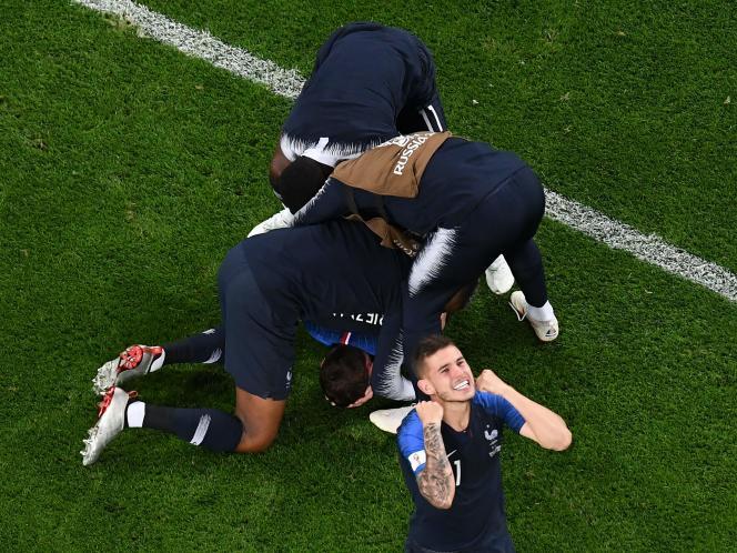 Les Bleus s'offrent leurtroisième finale de Coupe du monde en vingt ans, à Saint-Pétersbourg, le 10 juillet.