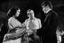 Claudia Cardinale, Luchino Visconti et Alain Delon sur le tournage du « Guépard», d'après le roman de Guiseppe Tomasi Di Lampedusa.