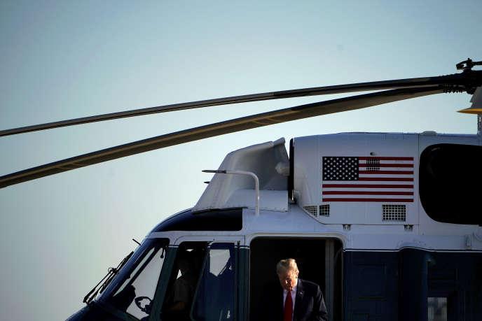 Le président américain Donald Trump avant son départ pour l'Europe, à la base d'Andrews (Maryland), le 10 juillet.