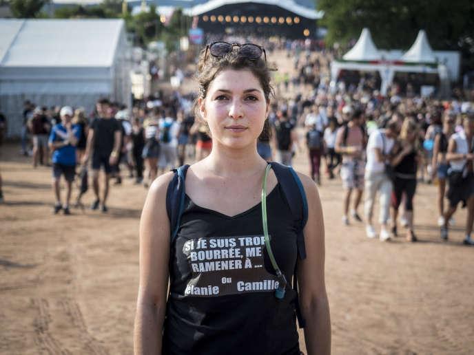 Julie,23 ans, se rend tous les ans aux Eurockéennes de Belfort, même après y avoir déjà étéharcelée.