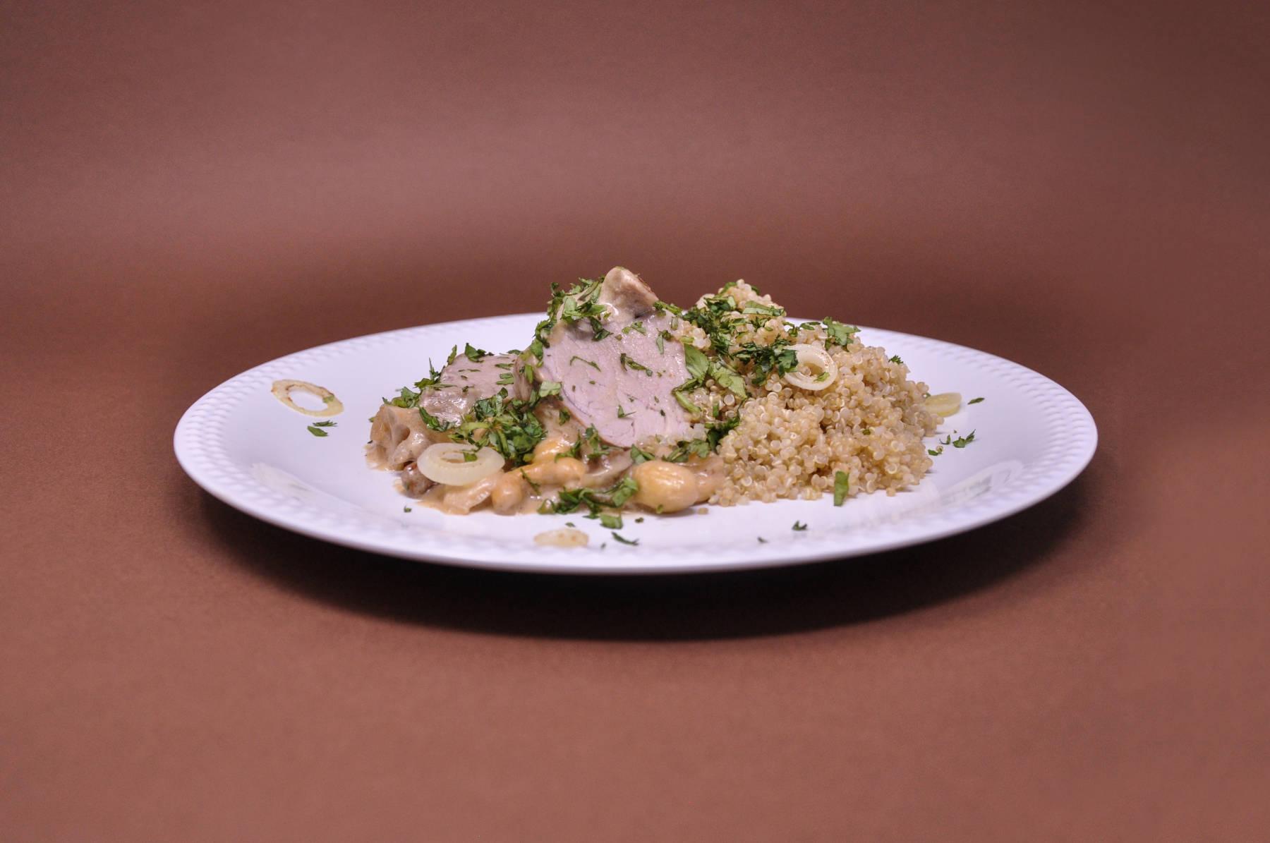 filet mignon de porc au curry et lait de coco : la recette de bruno