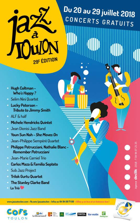 Affiche du festival Jazz à Toulon.
