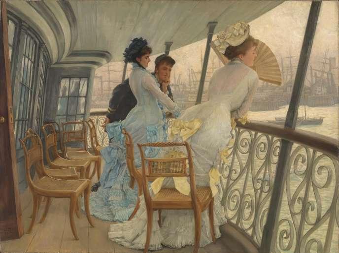 """«La Galerie du """"HMS Calcutta"""" (Portsmouth)» (vers 1876), de James Tissot."""
