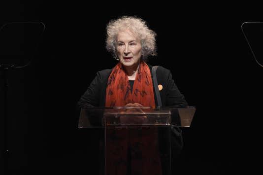 L'écrivaine canadienne Margaret Atwood à New York, le 24 avril.