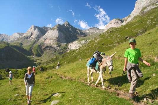 Précision utile: les ânes sont réservés au portage des bagages, pas des enfants...