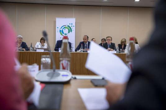 Le premier ministre, Edouard Philippe, ouvre la Conférence nationale des territoires, à Paris, jeudi 12 juillet.