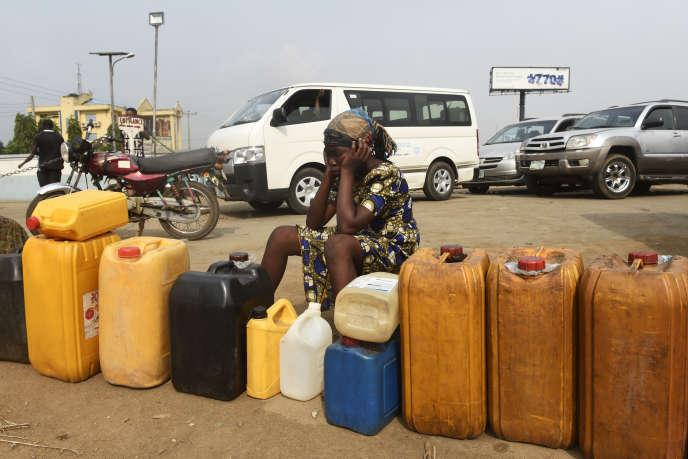 A Lagos, en décembre 2017.