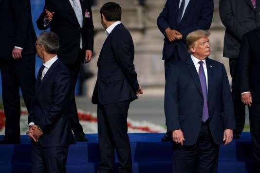 Le président américain Donald Trump lors du sommet de l'OTAN à Bruxelles (Belgique), le 11 juillet.