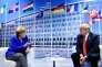 La chancelière allemande Angela Merkel et le président américain Donald Trump après une rencontre bilatérale en marge du sommet de l'OTAN à Bruxelles, le 11 juillet 2018.