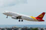 A Beijing Capital Airlines Airbus A320-200 aircraft takes off from the Sanya Phoenix International Airport in Hainan province, China April 29, 2013. Picture taken April 29, 2013. REUTERS/Stringer  ATTENTION EDITORS - THIS IMAGE WAS PROVIDED BY A THIRD PARTY. CHINA OUT. - RC1CDC92FAE0