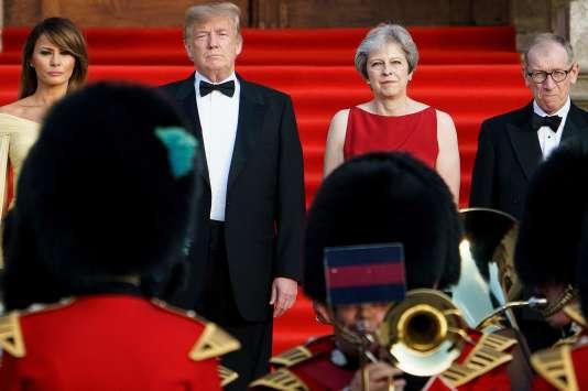 Le président des Etats-Unis Donald Trump et la première ministre britannique Theresa May, le 12 juillet à Londres