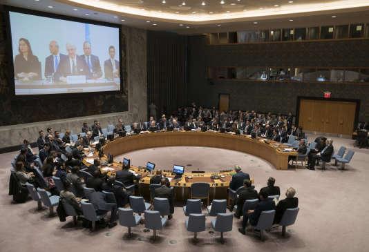 Réunion du Conseil de sécurité de l'ONU à New York.