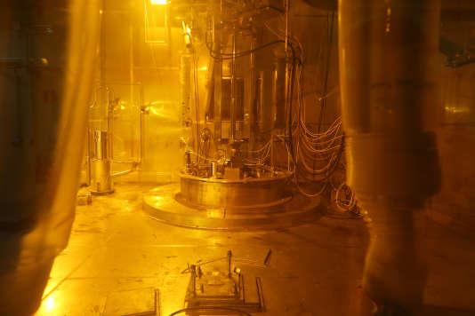 A l'usine de retraitement des déchets radioactifs de Beaumont-Hague, dans la Manche, fin 2015.