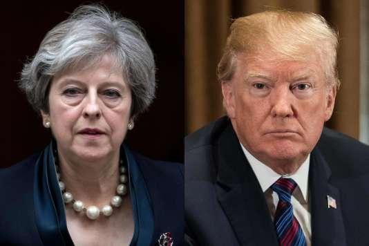 Theresa May et Donald Trump.