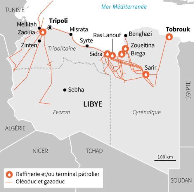 Les enjeux pétroliers et gaziers en Libye.