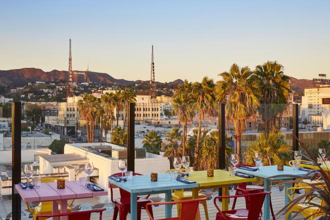 La terrasse du Mama Shelter Hotel à Los Angeles.