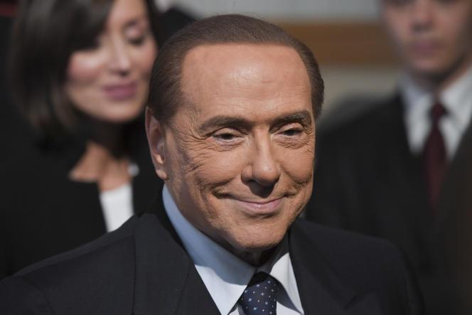 Silvio Berlusconi à Rome en avril 2018.
