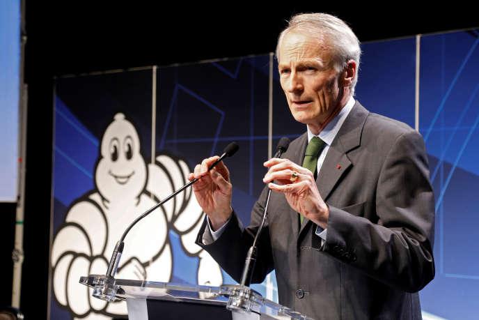 Jean-Dominique Senard, président de Michelin, à Paris, en février.