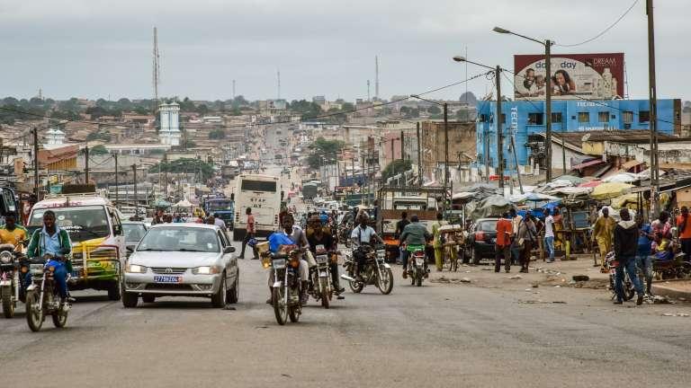 Dans le centre-ville de Bouaké, en juin 2018.