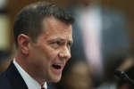 L'agent du FBI Peter Strzok témoigne devant une commission du Congrès de son rôle dans l'enquête sur l'éventuelle collusion entre l'équipe de campagne de Trump et la Russie fin 2016, Washington, 12 juillet 1998.