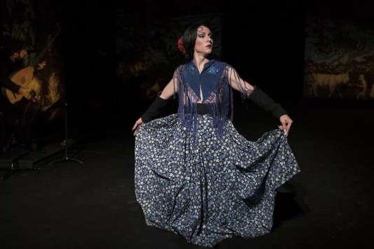 François Chaignaud, chorégraphe, danseur et chanteur, dans« Romances Inciertos, un autre Orlando» au Festival d'Avignon.