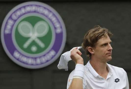 Le joueur Kevin Anderson, lors de la demi-finale de Wimbledon, le 13 juillet.