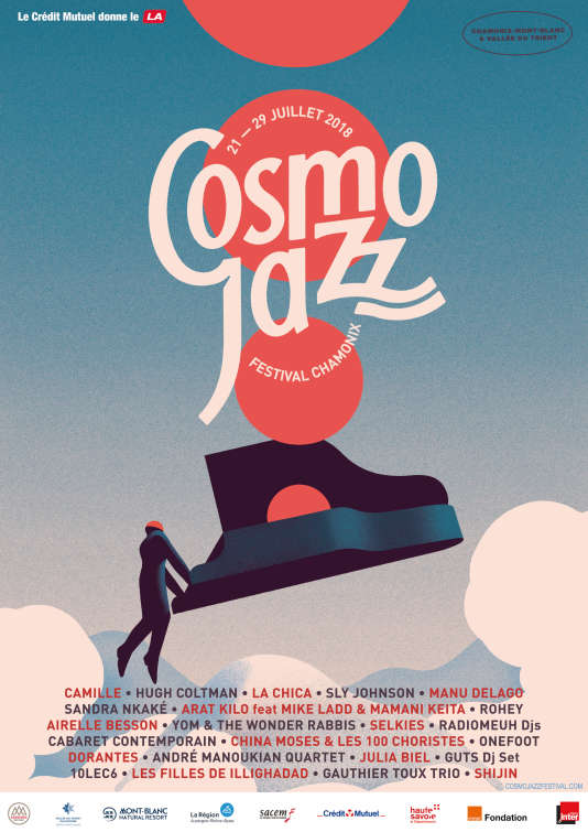 Affiche du festival Cosmo Jazz, à Chamonix.