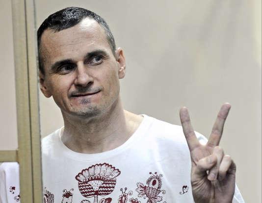 Oleg Sentsov, le 25 août 2015 au tribunal de Rostov-sur-le-Don, en Russie.