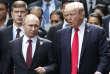 Vladimir Poutine et Donald Trump, le 11novembre 2017, lors d'unsommet de la Coopération économique pour l'Asie-Pacifique (APEC) à DaNang, au Vietnam.
