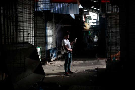 L'appel à la grève a été respecté au marché orientalà Managua, au Nicaragua, le 13 juillet.