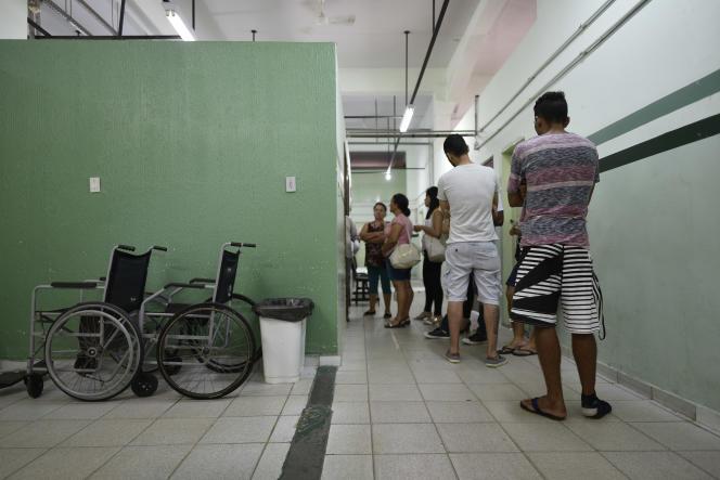 Vaccination contre la fièvre jaune, à Caratinga, au Brésil, en janvier 2017.