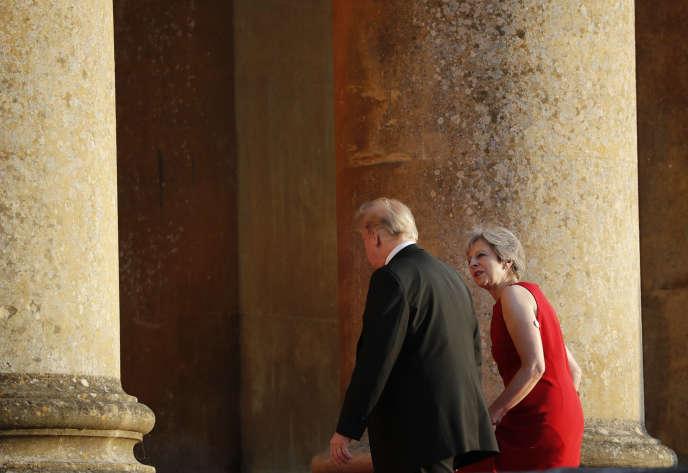 Le président américain Donald Trump et la première ministre britannique Theresa May au palais de Blenheim, à l'ouest de Londres, le 12 juillet.