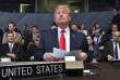 Donald Trump lors du sommet de l'OTAN à Bruxelles (Belgique), le 11 juillet.