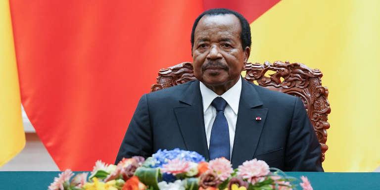 Le président camerounais Paul Biya à Pékin, le 22 mars 2018.