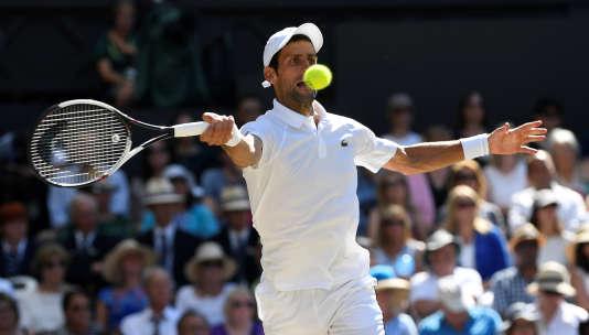 Novak Djokovic, dimanche 15 juillet à Wimbledon.