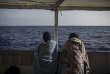 Migrants secourus par l'ONG Proactiva Open Arms, en partance pour Barcelone après que l'Italie et Malte ont refusé de les accueillir, le 4 juillet.