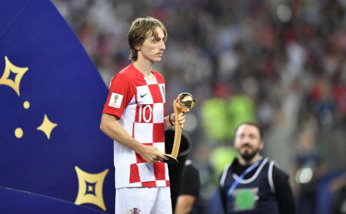 Luka Modric est le meilleur joueur du tournoi mais n'est pas champion du monde.