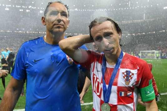 Luka Modric déçu dimanche soir à Moscou.