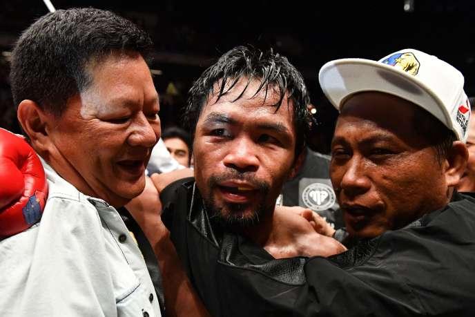 Le boxeur philippin Manny Pacquiao le 15 juillet à Kuala Lumpur.