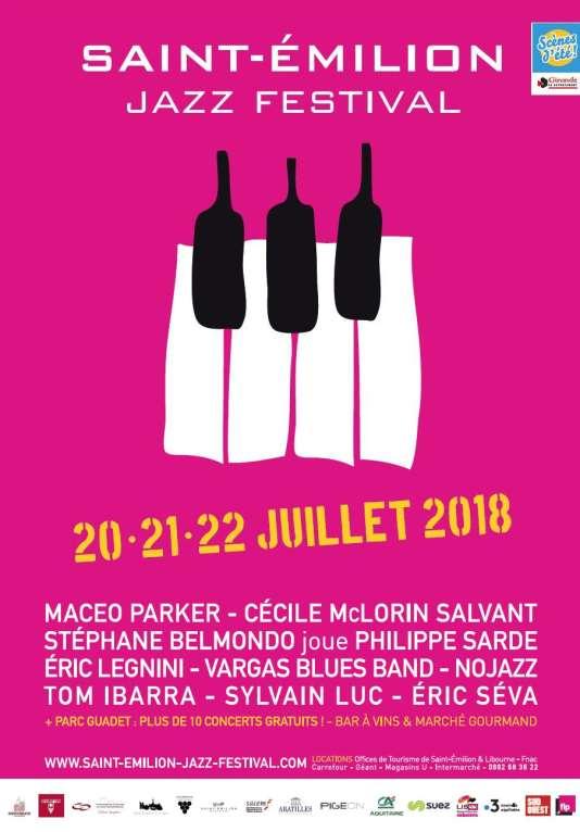 Affiche du Saint-Emilion Jazz Festival.